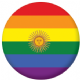 Argentina Gay Pride Flag 25mm Keyring